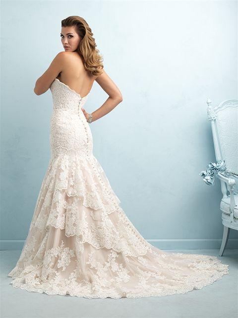 Champagne Lace Dress Allure