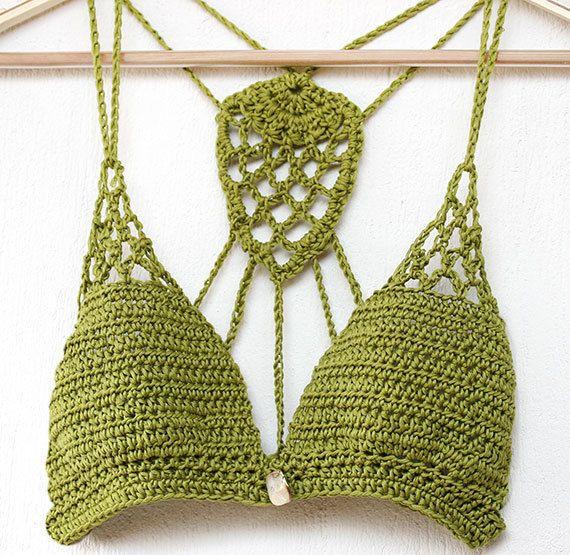 93b8eb607699a Crochet Bikini Top Lace crochet bikini bra Yoga crochet by MarryG ...