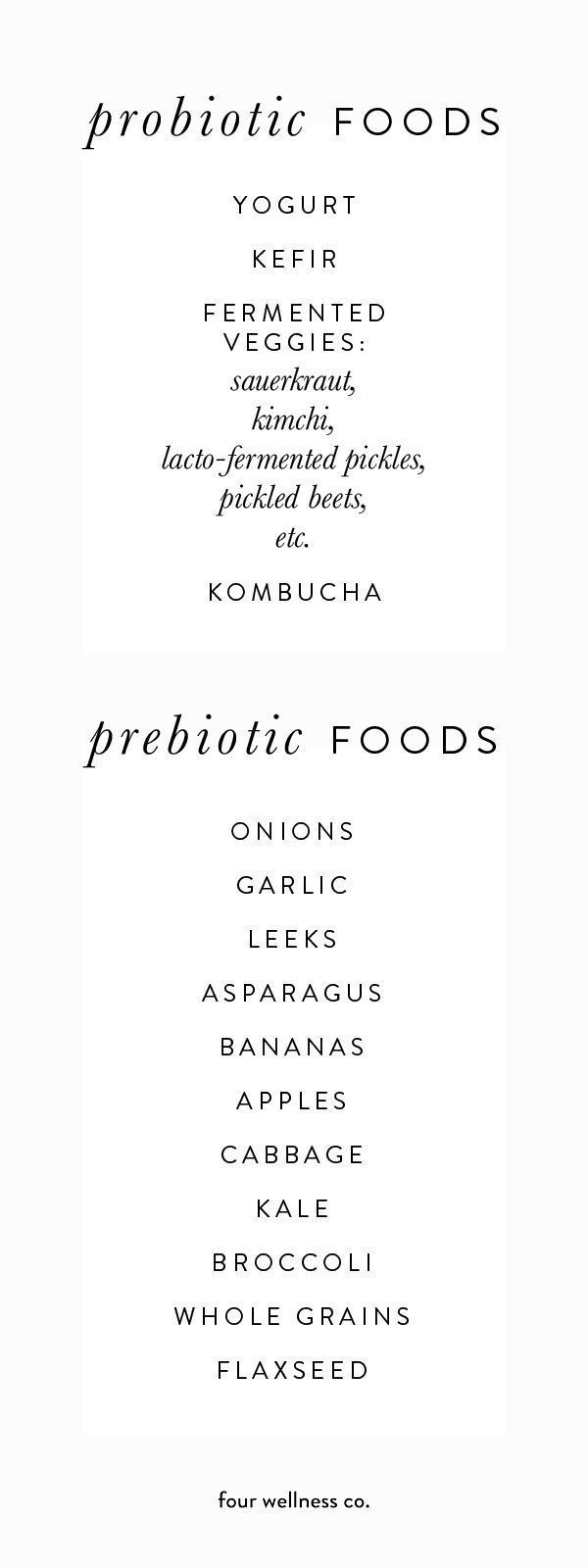 Why you need both probiotics  prebiotics  The health benefits of adding more probiotic and prebiotic foods into your diet  More wellness tips from a health coach at blog