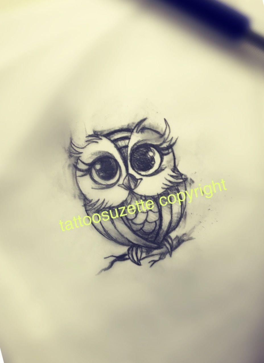 Little Owl Tattoo Design Cool Tattoo Drawings Owl Tattoo Design Sketch Tattoo Design