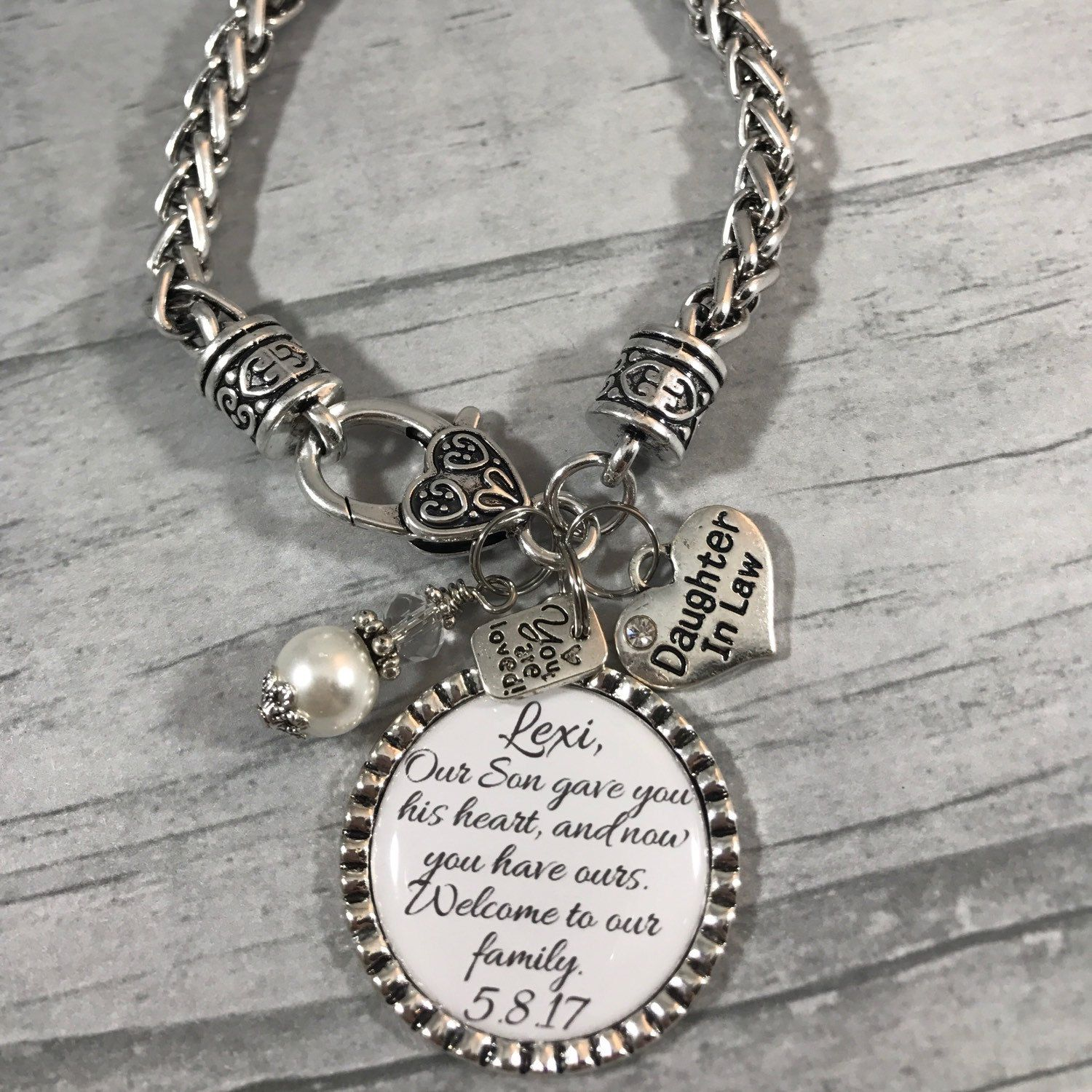 Daughter in law bracelet future daughter in law gift for