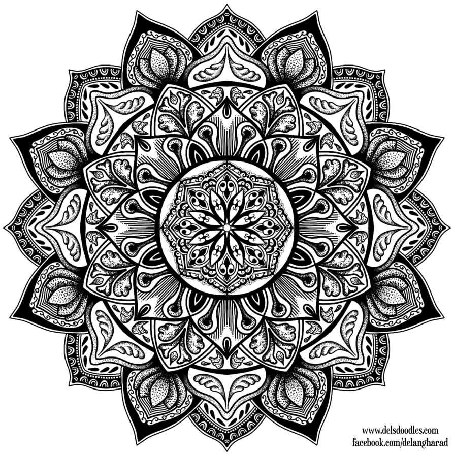 Del's Doodles is creating Colouring Pages | Mandala tattoo ...