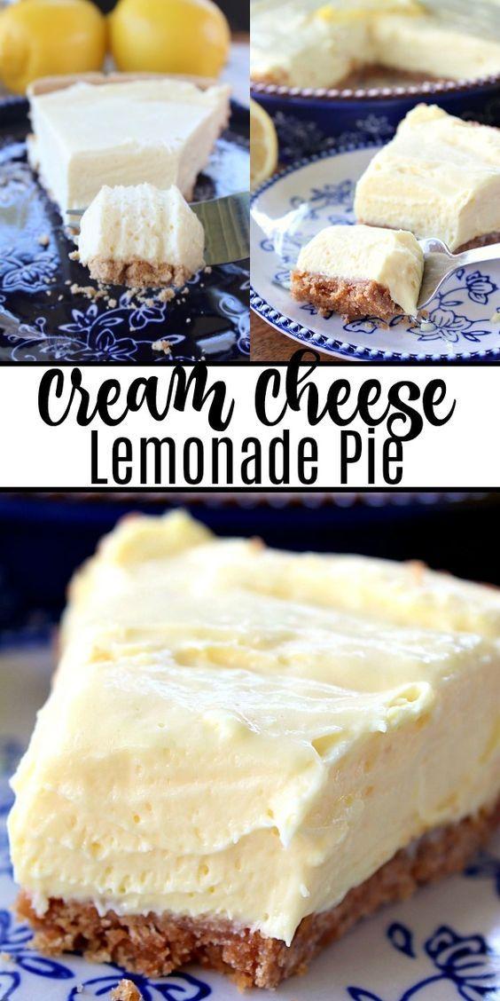 Cream Cheese Lemonade Pie #creamcheeserecipes