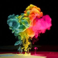 "Colored Smoke Explosion On Black ""-Spectrum""-, Variation 2 (slow ..."