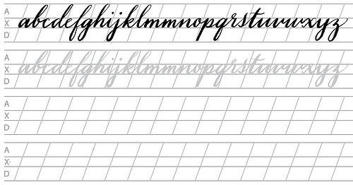 photo regarding Printable Calligraphy Practice Sheets known as 20+ Absolutely free Brush Lettering Educate Worksheets Cunning Hand