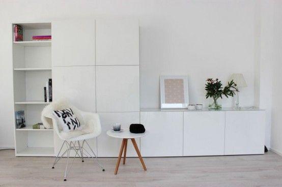 Camere Bianche Ikea : Ways to use ikea besta units in home décor bursztynowe