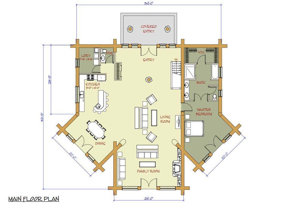 Pioneer Log Homes Floor Plan Kalispell Pioneer Log Homes Of Bc Log Home Floor Plans House Floor Plans Floor Plans