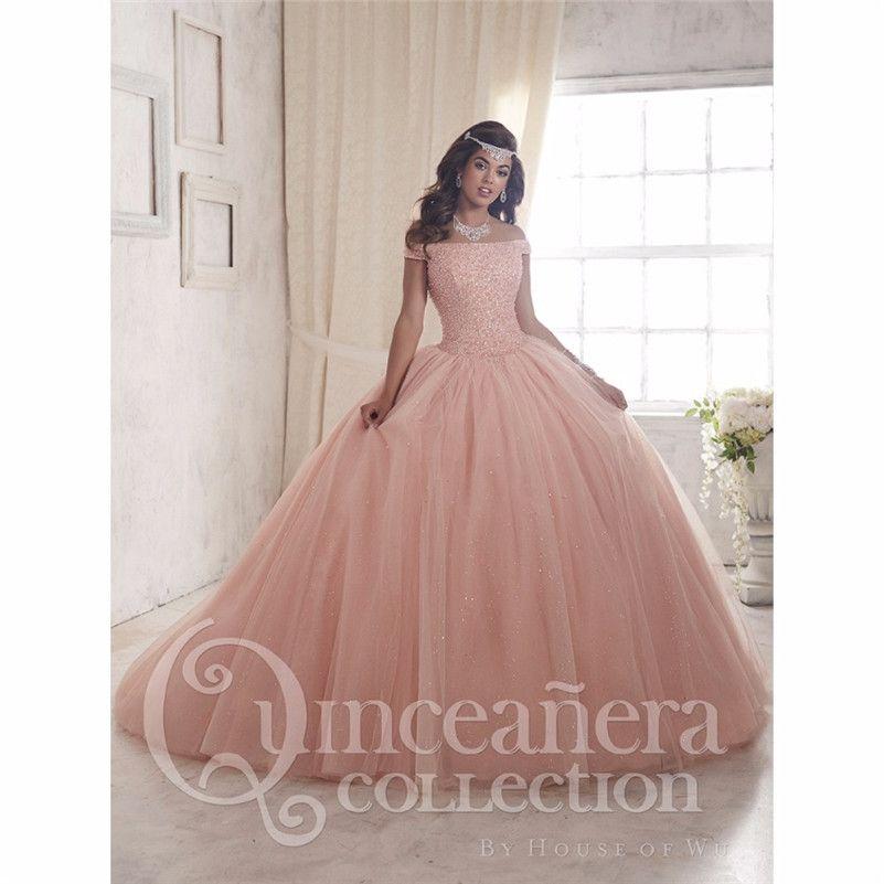 2017 Fuera Del Hombro Del vestido de Bola Vestidos de Quinceañera ...