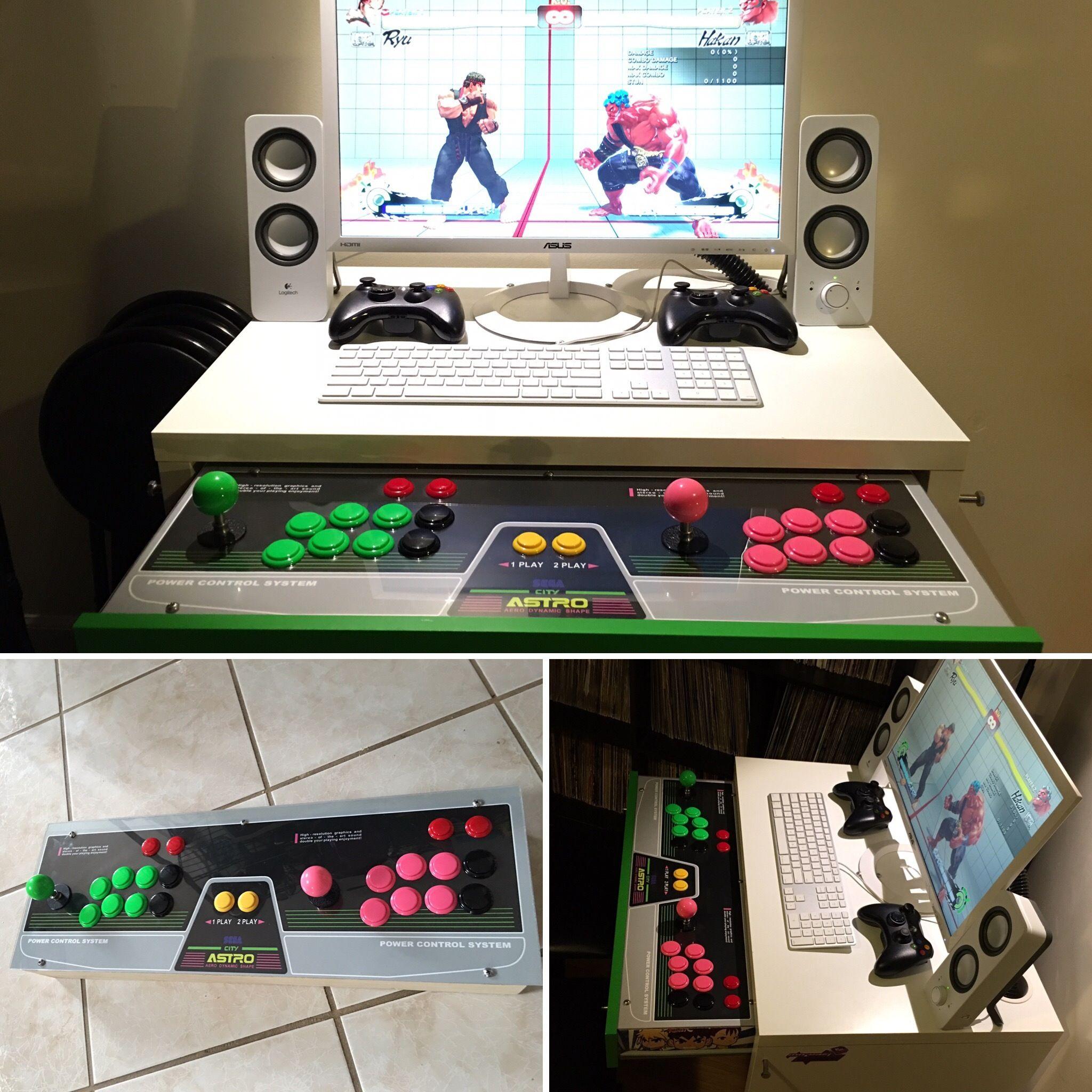Art4ms Drawer Stick Diy Arcade Cabinet Micke Desk Ikea Micke [ 2048 x 2048 Pixel ]