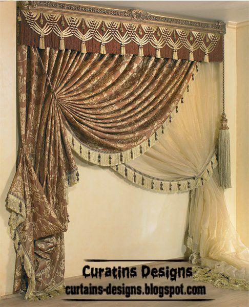 2013 Luxury Living Room Curtains Designs Ideas: Luxury Drapes Curtain Design For Living Room, Italy