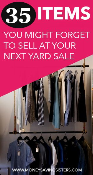 35 Things You Might Forget to Sell at your Next Yard Sale | The o ...
