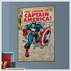 Captain America Comic Cover Poster