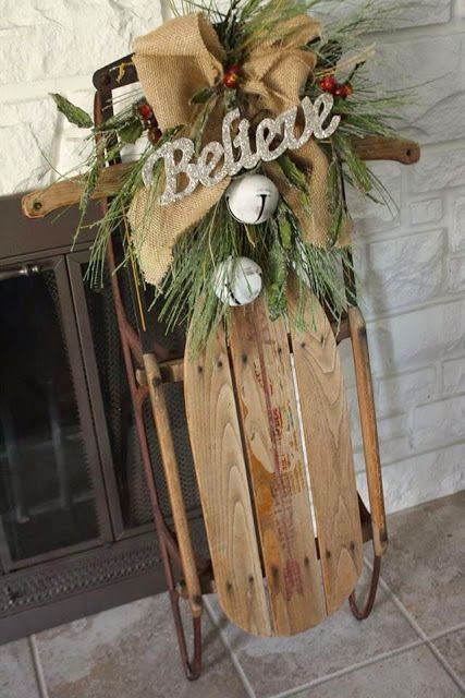 Top Sleigh Decorations | Seasonal-Christmas | Pinterest | Christmas ...