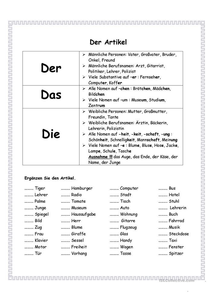 What's mine is yours — German Possessive Articles ...
