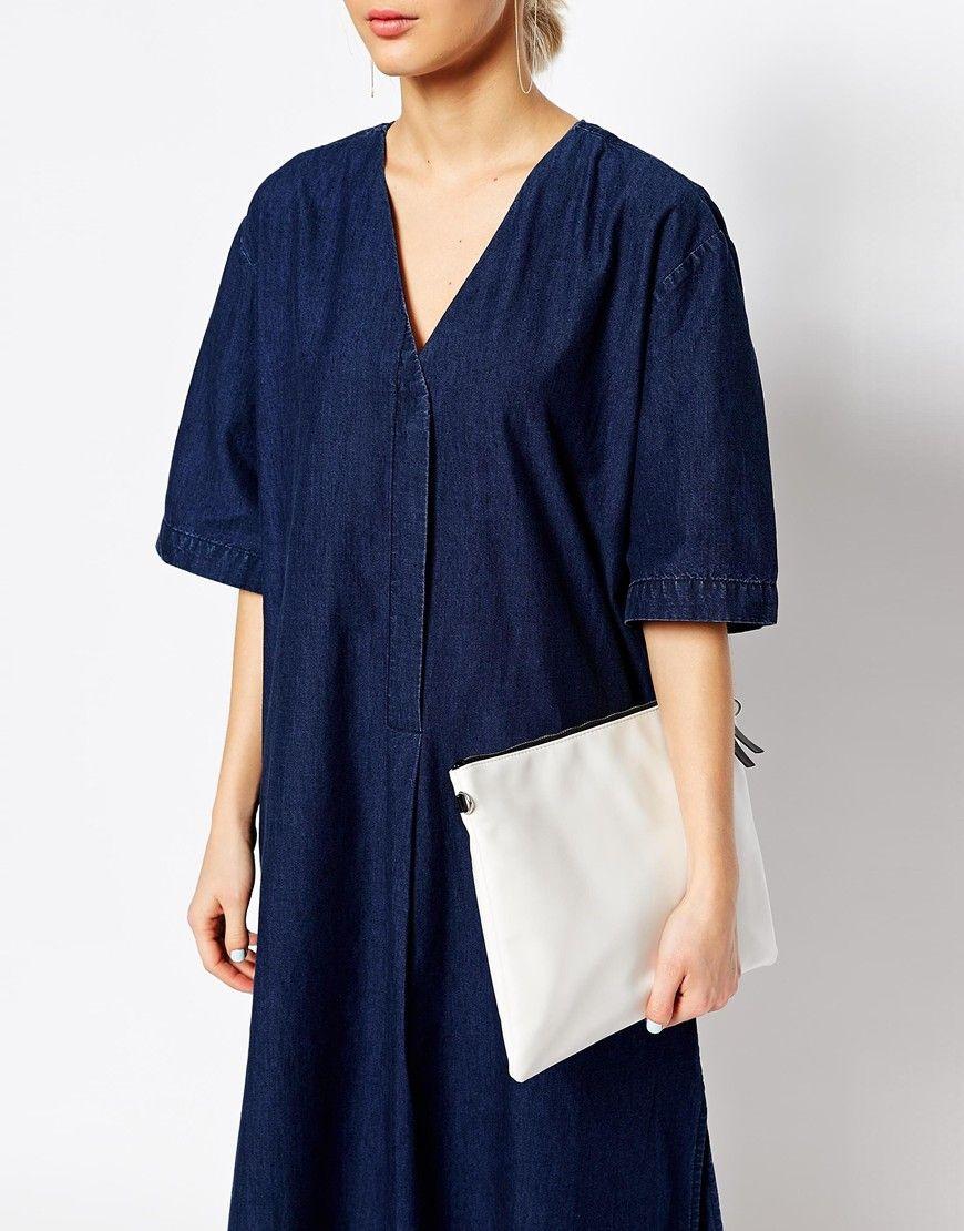 46dbb9a5e4f Image 3 of Weekday Denim Shirt Dress