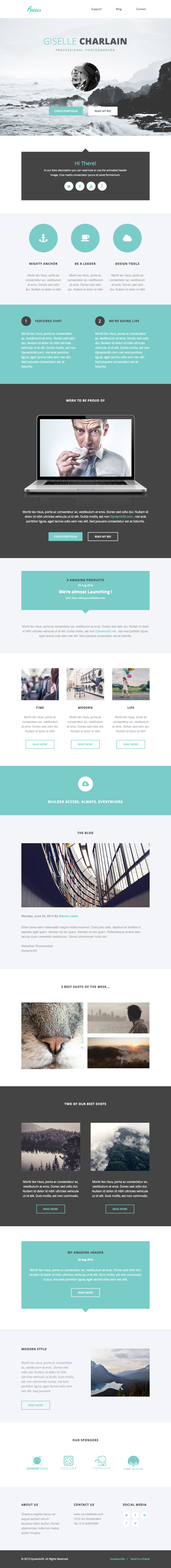 Focus Responsive Email + Online Template Builder #icontact ...