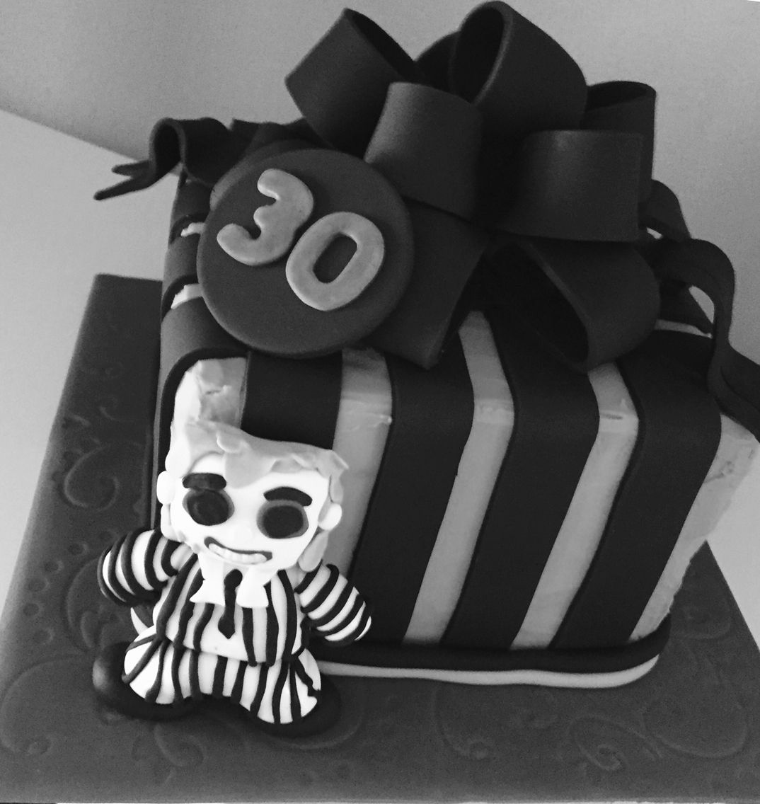 Beetlejuice 30th birthday cake 30 birthday cake, Cake