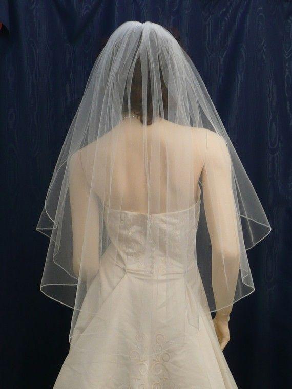 1b04666ade wedding veils bridal veil IVORY Fingertip by BellaBridalVeils Velos
