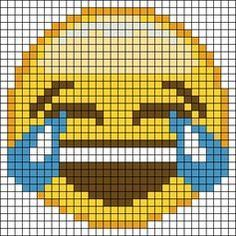 Crying Laughing Emoji Pixel Art Pixel Crochet Pixel Pattern