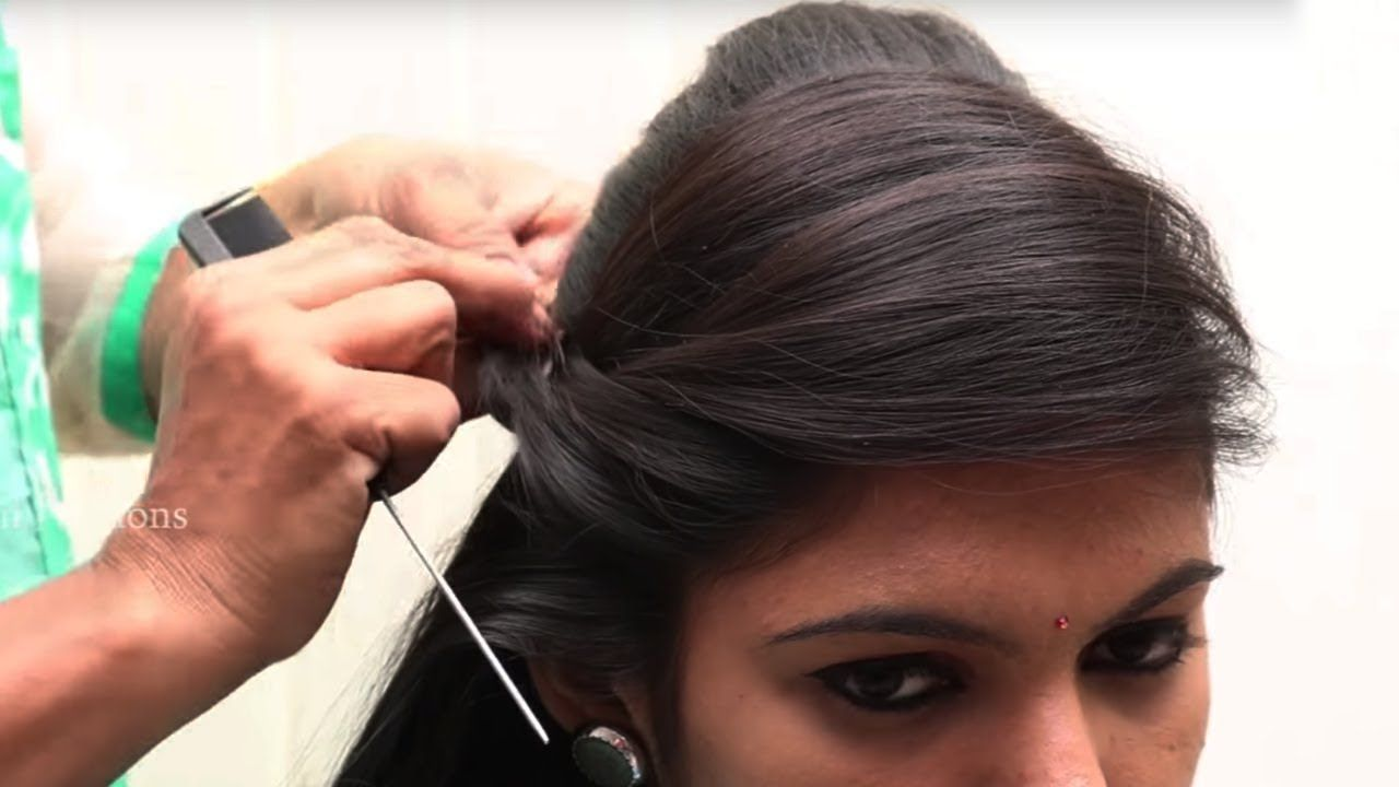 Puff Hairstyle For Party And Wedding Beautiful Side Puff Hairstyles Hair Puff Latest Hairstyle Video Hair Videos