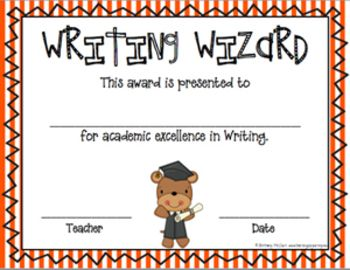 editable awards and certificates classroom awards stripes