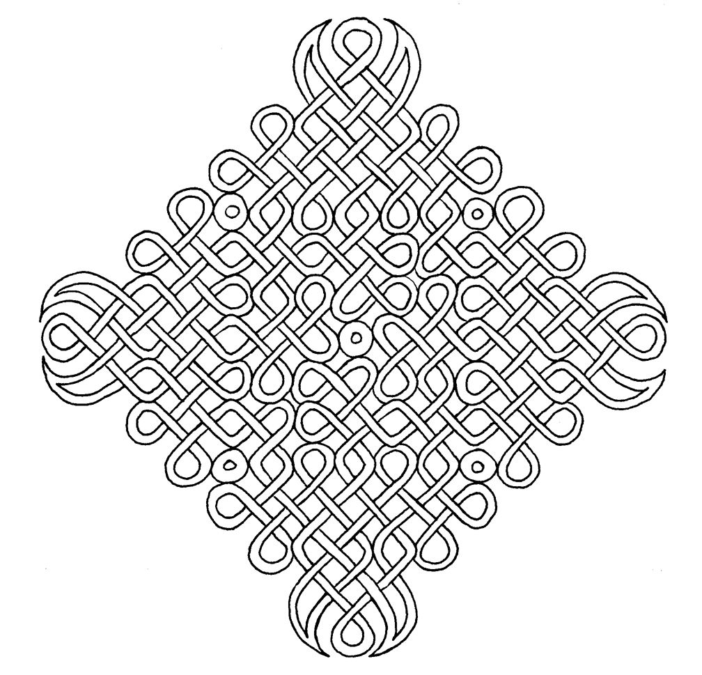 Geometric Celtic Knot Pictures Coloring Pages Jobspapa