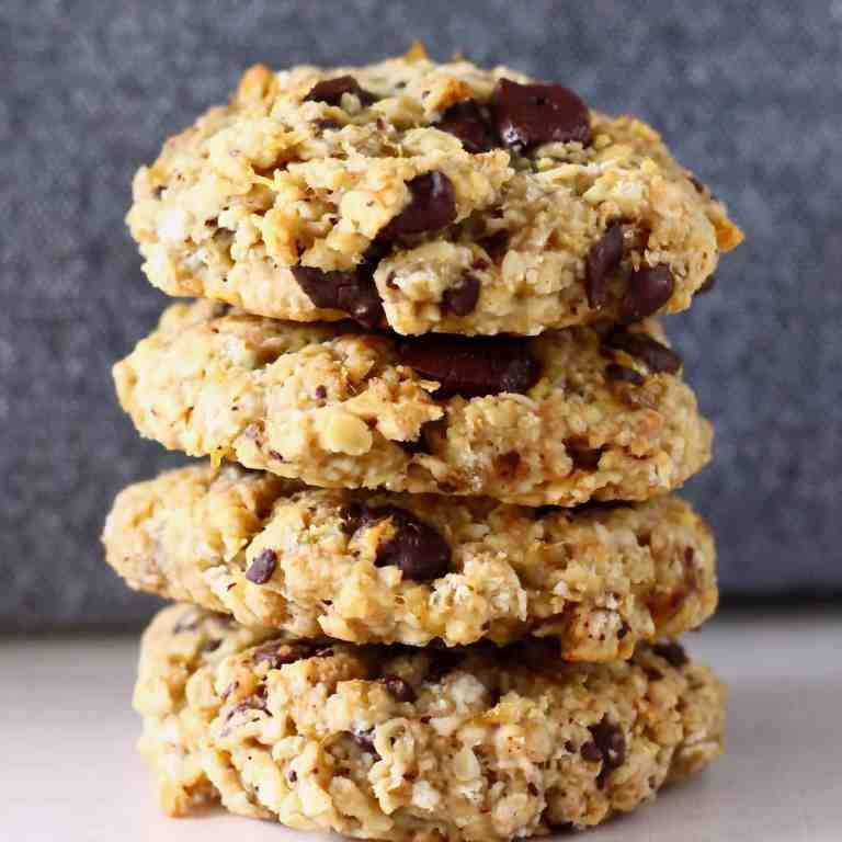 These GlutenFree Vegan Banana Oatmeal Cookies are soft chewy and perfectly sweet Theyre easy to make and can be customised however you like  you can add chocolate chips r...