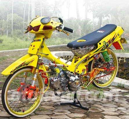 Modifikasi Motor Kawasaki Kaze R Modif 3