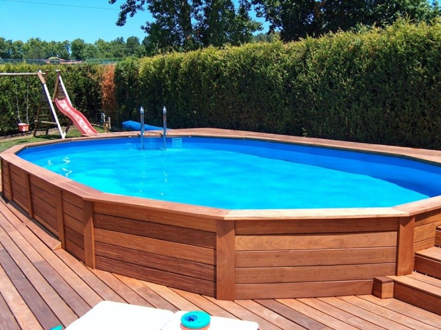 Piscina madera jardines pinterest piscinas madera y for Piscina madera pequena