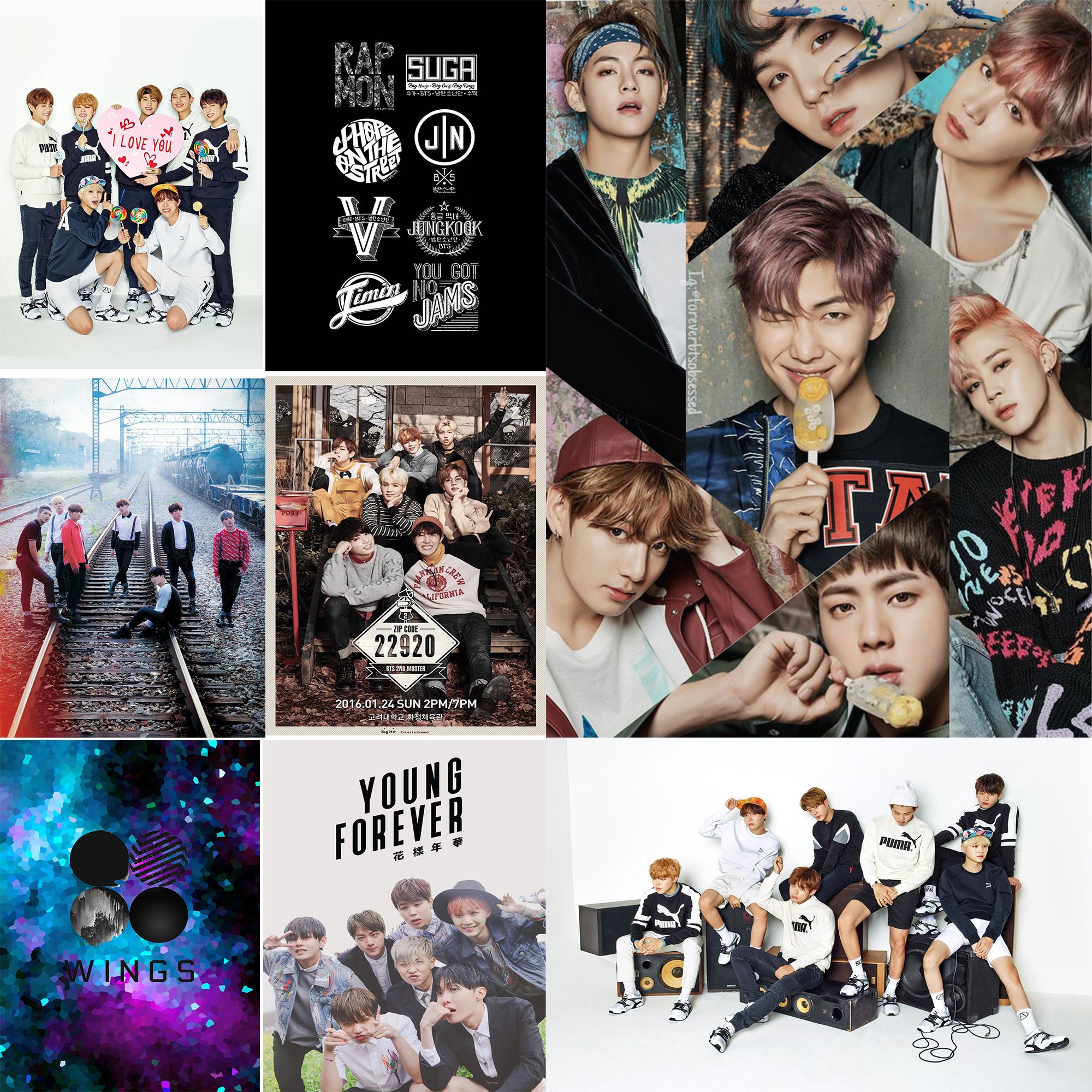 Bts Band Posters Wall Stickers White Paper Prints Home Decoration Home Art Mu13 Band Posters Poster Wall Bts Wallpaper