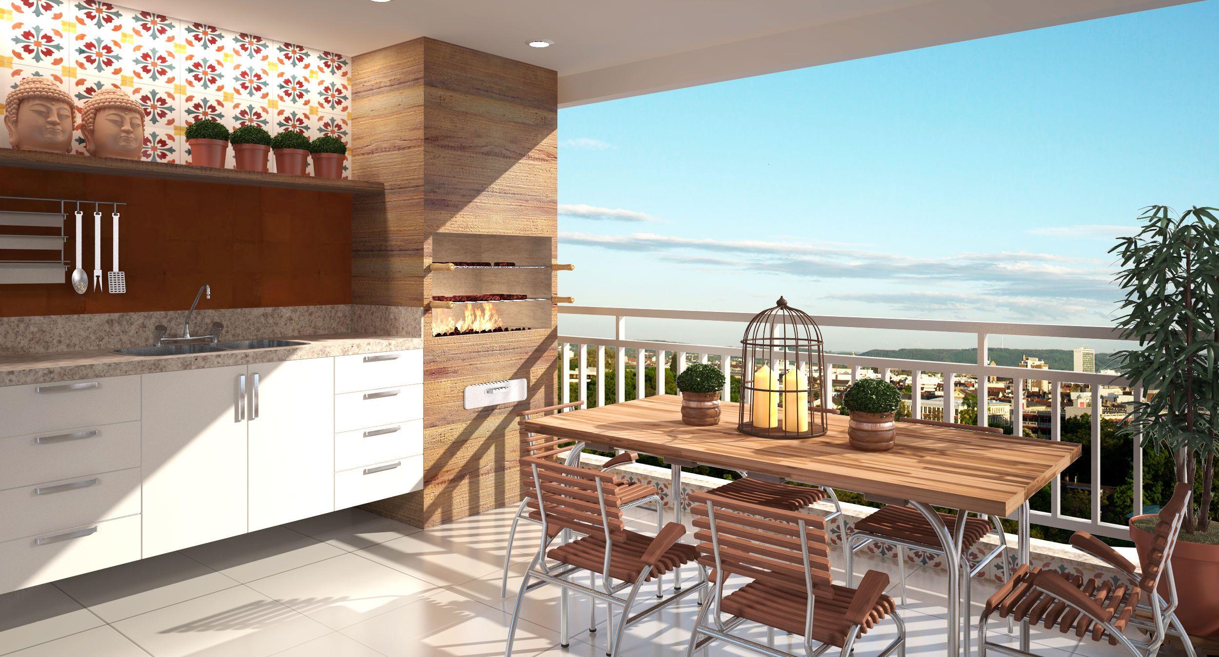 Confira 10 Projetos De Varanda Gourmet Para Voc Se Inspirar  ~ Redes Para Balcones Leroy Merlin