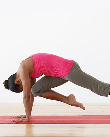 2 downward facing dog with knee to nose  7 yoga poses