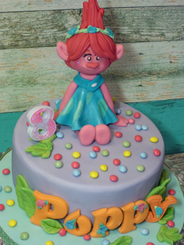 3d princess poppyedibehandmadebirthdaypersonalised cake