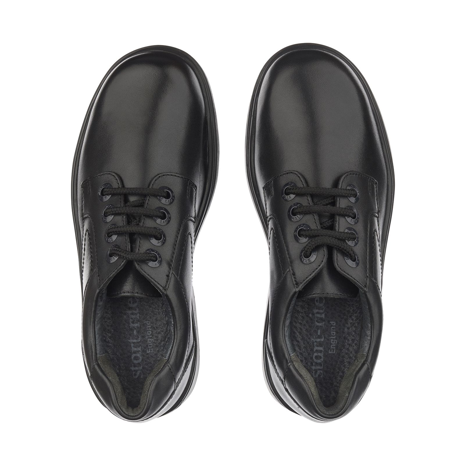 School shoes, Black leather