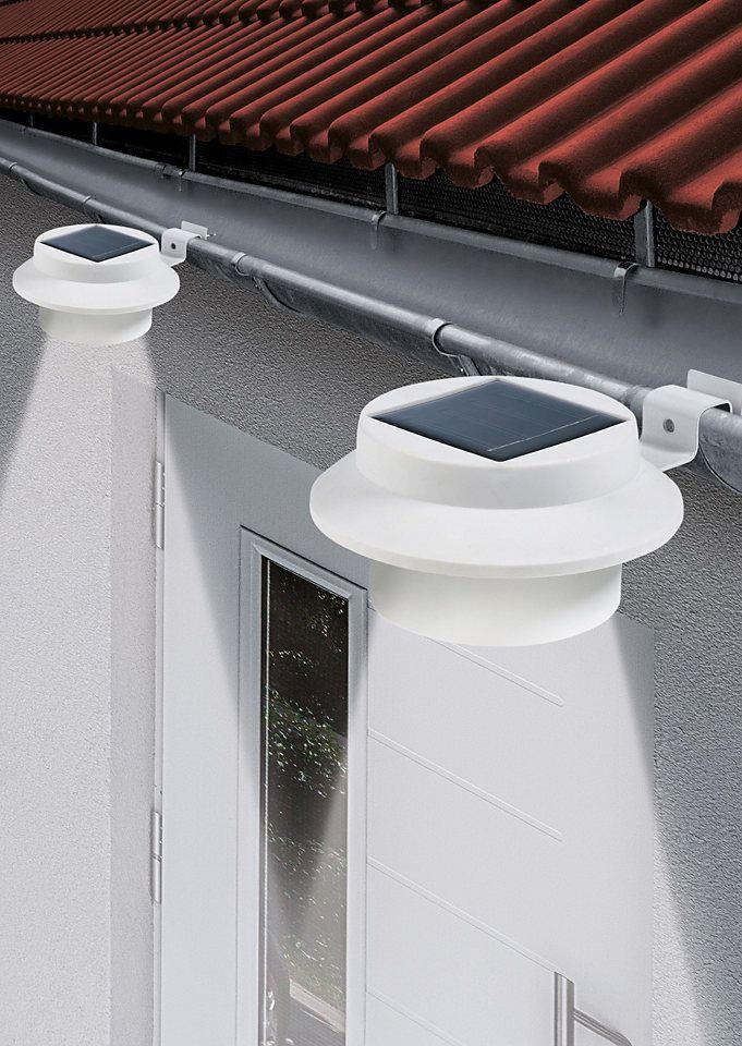 Solarzauber Dachrinnen Leuchte 3er Set Led Solarleuchten Garten Wohnen Und Garten