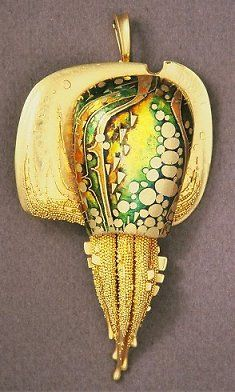 john paul miller.silver.no title 2.18k gold, enamel by moosoid9, via Flickr