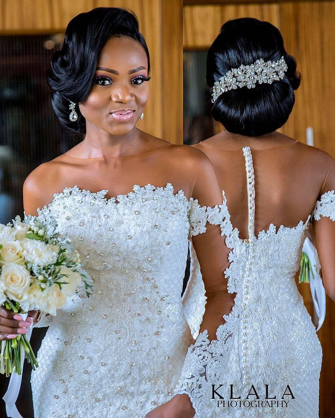 Onald17 Photo Klalaphotography Makeup Banksbmpro Bride S Dress Aprilbykunbi Groom S Wedding Dresses Lace Trumpet Wedding Gown Black Wedding Hairstyles