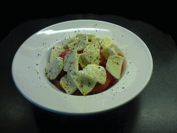 "#Mozzarella & #Tomate mal anders - mit ""rosa Pfeffer"""