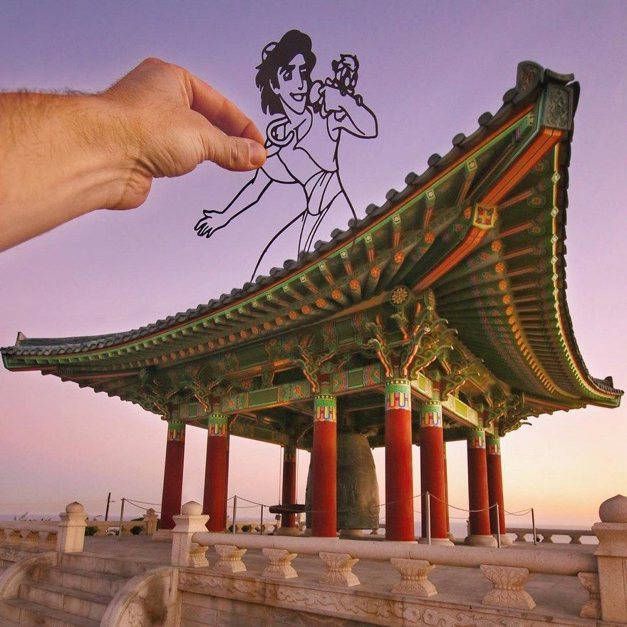 Using Paper Cutouts To Turn Famous Landmarks Into Art 57 New Pics Famous Landmarks Disney Silhouette Landmarks