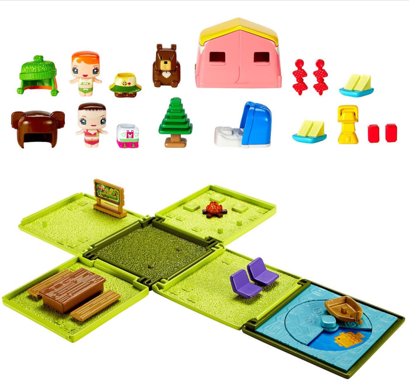 My mini mixieqs camping playset barbie gifts toys for