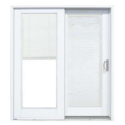 Composite White Right Hand Smooth Interior With Low E Blinds Between