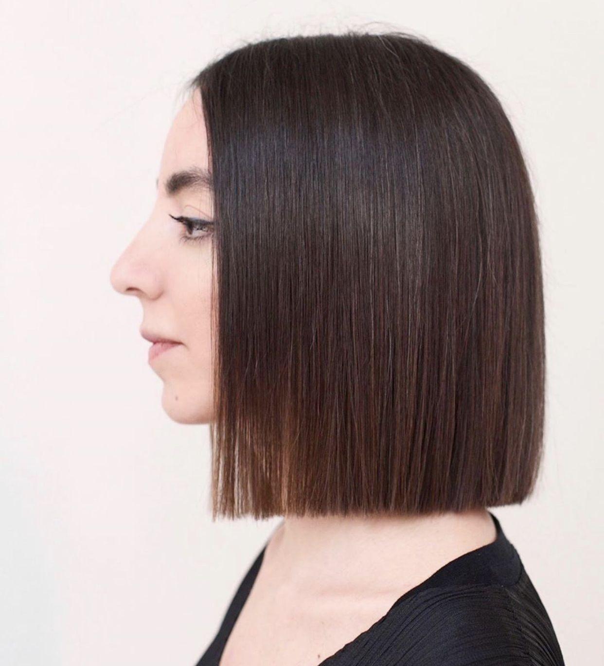 Soft Blunt In 2020 Thin Straight Hair Medium Hair Styles Hair Styles