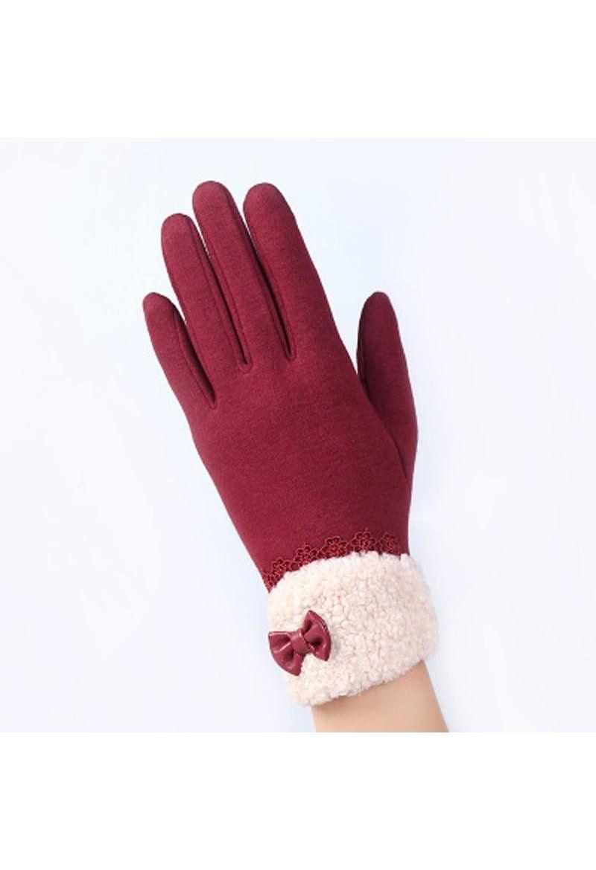 Fashion Women/'s Gloves Winter Gloves Ladies Cotton Mittens Outdoor Touch Screen