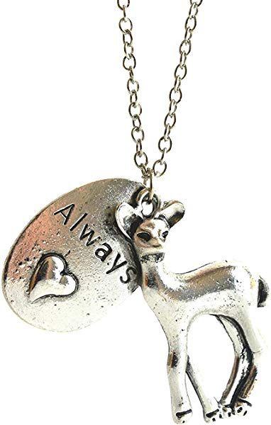 Deer Always Necklace Movie Inspired Romantic Pendant With Deer And
