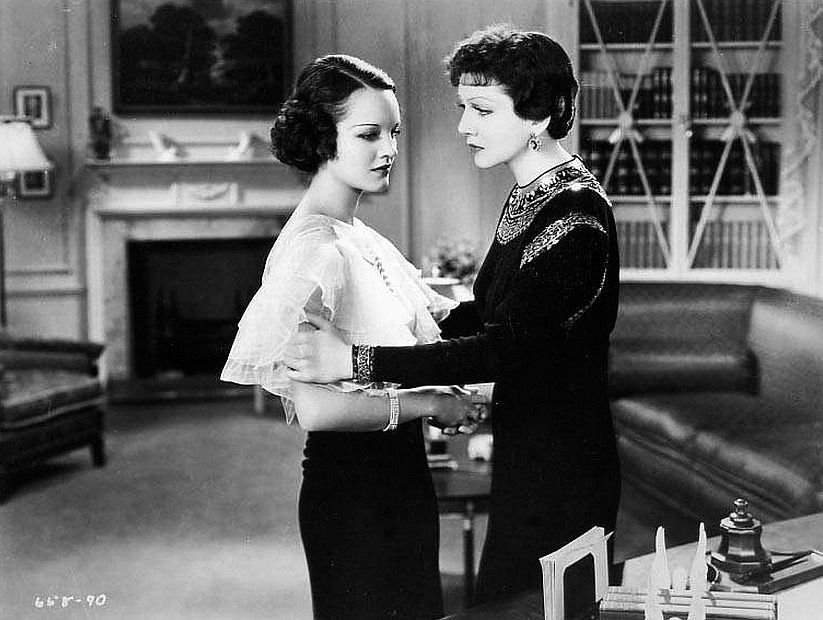 Claudette Colbert and Rochelle Hudson in Imitation of Life 1934