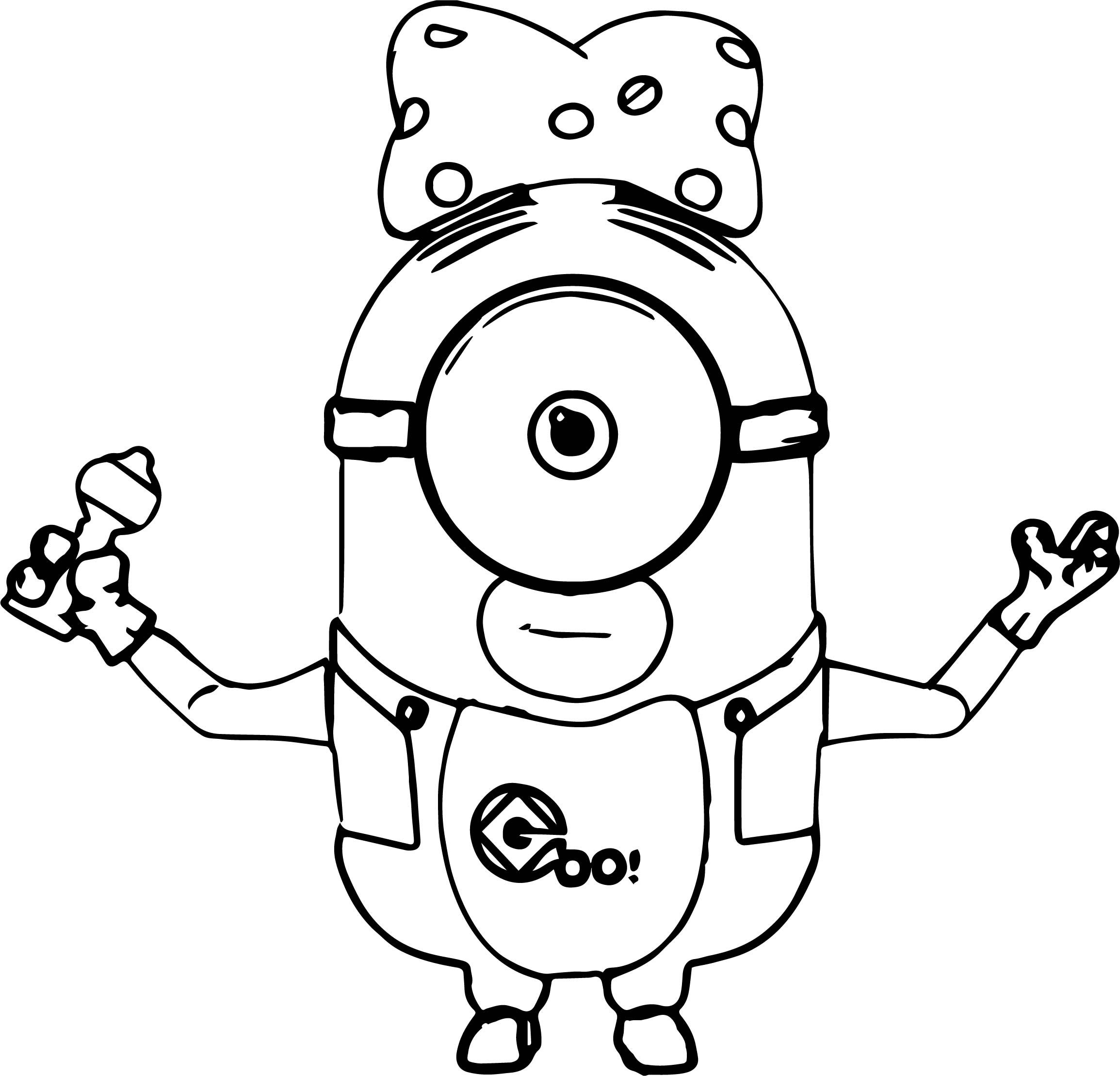 Cool Just Baby Minions Coloring Page Minion Coloring Pages Baby