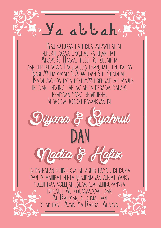 Wedding Card Design for Malay Wedding Page 3 nadiasuchendesigns – Custom Made Invitation Cards