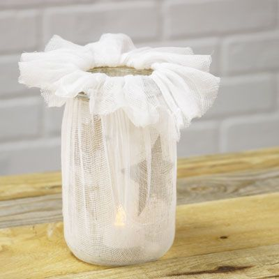 Starlight Luminary  Perfect for all kinds of indoor and outdoor occasions, this starlight luminary is super simple to make! Combine cheesecloth, a paper bag and Aleene's® Original Tacky Glue® with a ball jar for a creative way to keep your light shining.