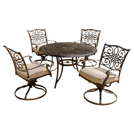 You Should See This Traditions 5 Piece Swivel Dining Set In Champaign On Daily Sales 912 99 Wayf Dining Furniture Sets Patio Dining Set Patio Furniture Sets