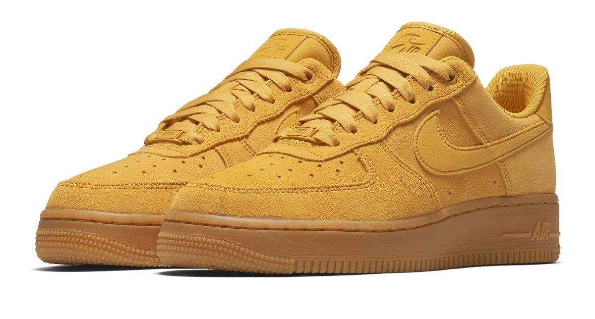 promo code 3e8ea da0b3 This Nike WMNS Air Force 1  07 SE Mineral Yellow Shines For The New Year